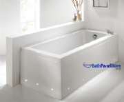 Luxury High Gloss White 1 Piece Bath Panels with LED Lights